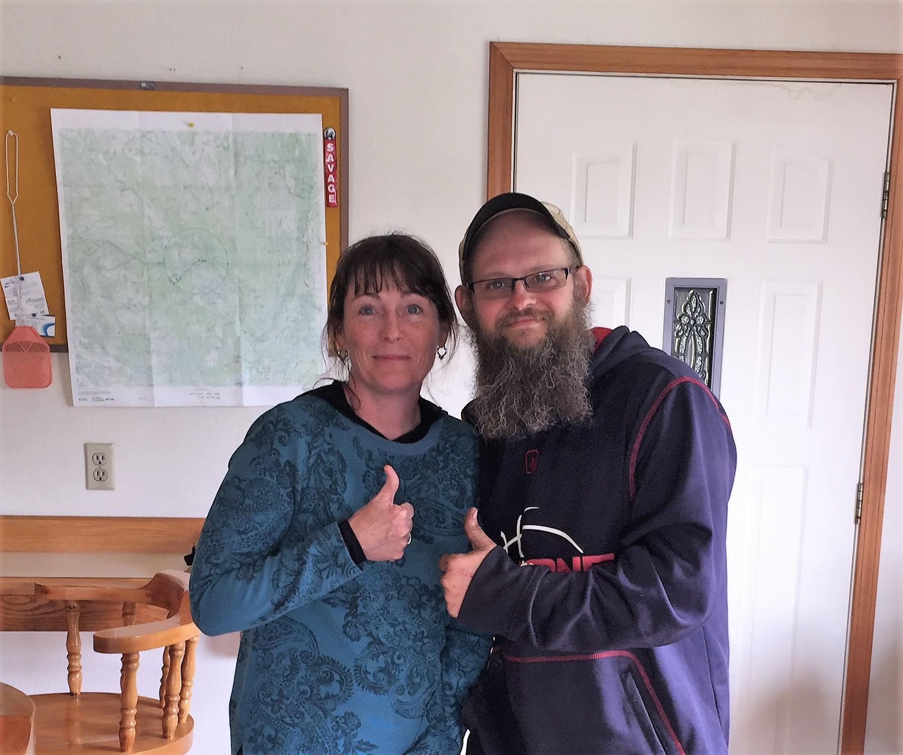 <h6>Ann with Roger from Cub Lake during the first trip, 2016</h6>