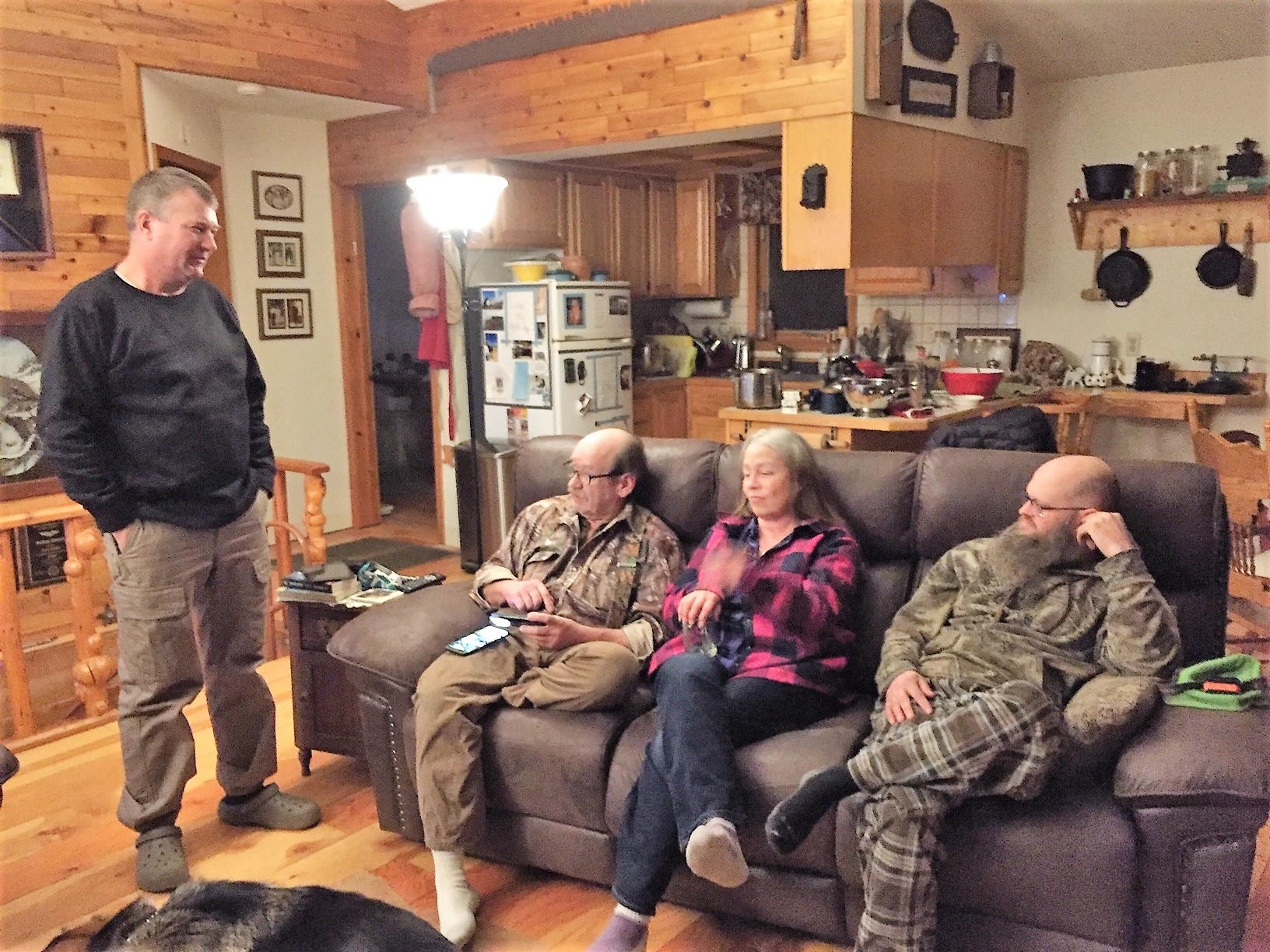 <h6>Christmas with Ray, Riska, and Roger at the Cabin on Cub Lake, December of 2018</h6>